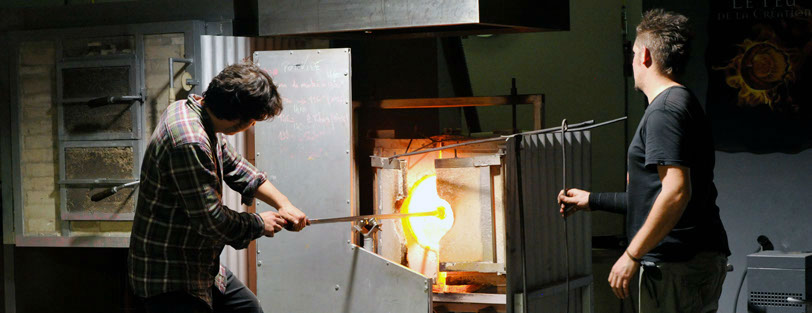 souffleur de verre Cerfav galerie atelier